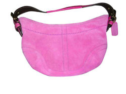 COACH Vintage Small Hobo Pink Suede Purse Bag MINT NWOT $80.00