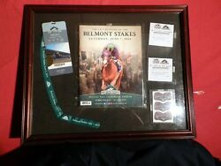 California Chrome Belmont Stakes June 7 2014 7 - Great Collectibles Framed