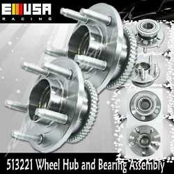 2 Pcs Front Wheel Hub Bearing Assembly For 05 06 07 08 09 10 11 12 Ford Mustang