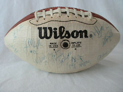 1984 New York Giants Team Signed Football Vintage Lawrence Taylor 40 Autographs