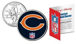 Chicago Bears Officially Licensed Nfl Illinois U.s. State Quarter Coin W/coa