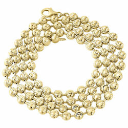 10k Yellow Gold Moon Cut Style Link New Solid Chain Necklace 5mm 26 - 40