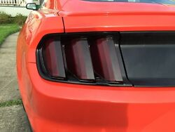 2015-2017 Ford Mustang Smoke Tail Light Tint Cover Smoked Overlays Complete Rear