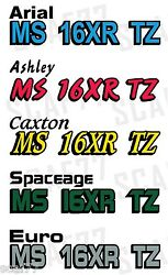 Custom Boat Jet Ski Pwc Registration Numbers Decal Stickers With Shadow 2 Color