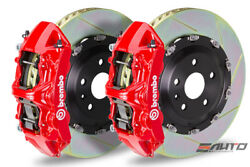 Brembo Front Gt Brake Bbk 6pot Red 380x34 Slot Rotor A4 S4 09-14 A5 S5 08-14