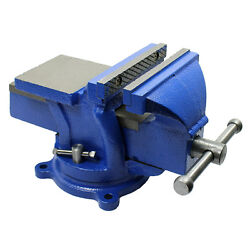 5 Heavy Duty Steel Bench Vise With Anvil Swivel Table Top Clamp Locking Base