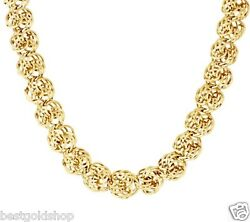 36.5gr 20 Bold Love Knot Ropa Chain Necklace Real 14k Yellow Gold Qvc J295403