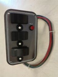Weeres Lowline Switch Panel 41449 Silver / White 6 X 3 3/4 Marine Boat