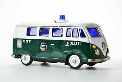 tin toy volkswagen transporter bus police