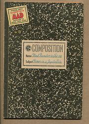 Mad 20 - Composition Notebook Cover - 1955 Grade 5.5/6.0 Wh