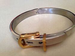 YOU need this buckle bangle fake gold & silver tone love luck lucky bracelet