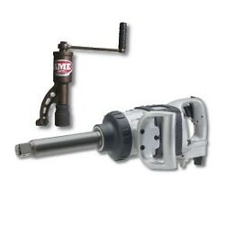 """Ingersoll Rand 1"""" Heavy-duty Extended Anvil Pneumatic Impact Wrench W/free Nut B"""