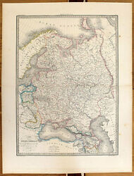 Carte Ancienne Lapie Antique Map 1842 Russie Dand039europe Finlande Pologne Oural