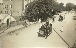 Fire Truck Engine Parade Lebanon And Mt. Gretna, Pa Ca 1900's Real Photo Postcard
