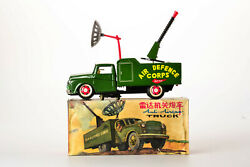 Antique Red China Tin Toy Boxed Me 625 Army Anti Airgun Truck Car Old Me Ms