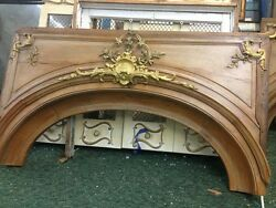 Arched Wood Doorway Insert With Bronze Detail