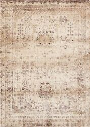 9and039x9and039 Round Loloi Rug Anastasia Polypropylene And Polyester Ivory Multi Color Mach