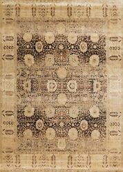 9and039x9and039 Round Loloi Rug Anastasia Polypropylene And Polyester Coffee Gold Machine-ma