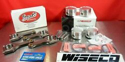 Wiseco Forged 86.5mm Pistons 91 Scat 4340 H Beam Rods For Nissan Sr20 S13 S14