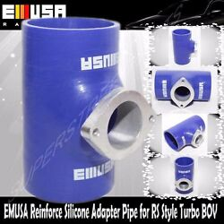 Emusa Blue 3 Reinforce Silicone Adapter Pipe For Rs Style Turbo Bov