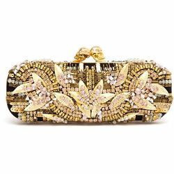 Alexander Mcqueen Embroidered Crystal Box Clutch