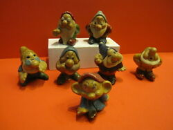 all original 1938 snow white 7 dwarfs set