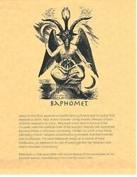 Book Of Shadows Spell Pages Baphomet Wicca Witchcraft Bos