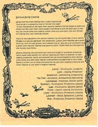 Book Of Shadows Spell Pages Spiritual Spring Cleaning Wicca Witchcraft Bos