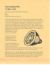 Book Of Shadows Spell Pages Lemon Uncrossing Spell Wicca Witchcraft Bos
