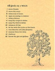 Book Of Shadows Spell Pages 13 Goals Of A Witch Wicca Witchcraft Bos