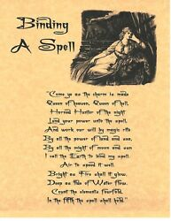 Book Of Shadows Spell Pages Binding A Spell Wicca Witchcraft Bos
