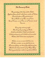Book Of Shadows Spell Pages The Descent Of Brigid Wicca Witchcraft Bos