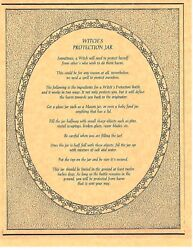Book Of Shadows Spell Pages Witch's Protection Bottle Spell Wicca Bos