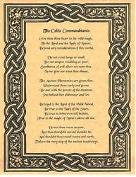 Book Of Shadows Spell Pages Celtic Commandments Wicca Witchcraft Bos