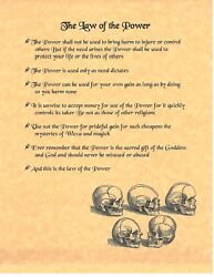 Book Of Shadows Spell Pages Law Of The Power Wicca Witchcraft Bos