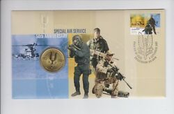 1957 2007 50th Anniversary Special Air Service Sas 1 Coin And Stamp Set Pnc Fdc