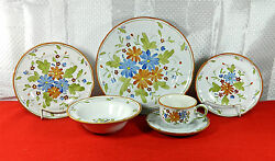 55-pce Set For 7+ Vernonware Hand Painted Vernon Bouquet Pat V642 China