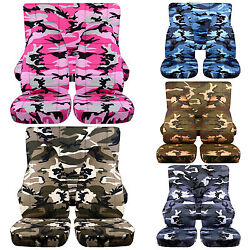 Front + Back Camouflage Design Car Seat Covers Fits Jeep Cherokeechoose Color