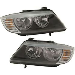 Halogen Headlight Left And Right For Bmw 2009-2011 323i 2009-12 328i 328 Xdrive