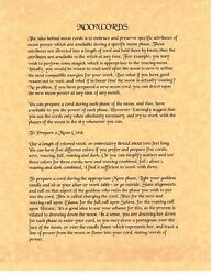 Book Of Shadows Spell Pages How To Make Moon Cords Wicca Witchcraft Bos