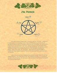 Book Of Shadows Spell Pages Pentacle Wicca Witchcraft Bos