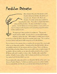 Book Of Shadows Spell Pages Pendulum Divination Wicca Witchcraft Bos