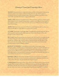 Book Of Shadows Spell Pages Pagan Glossary Pages Wicca Witchcraft Bos