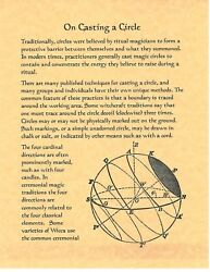 Book Of Shadows Spell Pages On Casting A Circle Wicca Witchcraft Bos