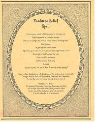 Book Of Shadows Spell Pages Headache Relief Spell Wicca Witchcraft Bos