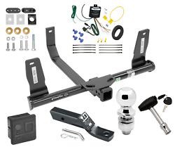 Trailer Tow Hitch For 10-15 Mercedes-benz Glk350 Delux Pkg Wiring 2 Ball And Lock