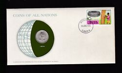 1978 Liberia Coin And Postal Stamp Cover Fdc Ex Coins Of All Nations Set B-875