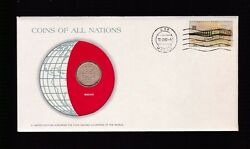 1975 Macao Coin And Postal Stamp Cover Fdc Ex Coins Of All Nations Set B-877