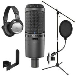 Audio-Technica AT2020USBi Cardioid Condenser USB Microphone STUDIO PAK