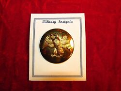 Us Army Waac Womans Auxilliary Army Corp Dress Hat Badge Enlisted Rank On Card